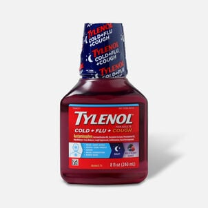 Tylenol  Cold + Flu+ Cough Night Wild Berry Liquid 8 fl oz
