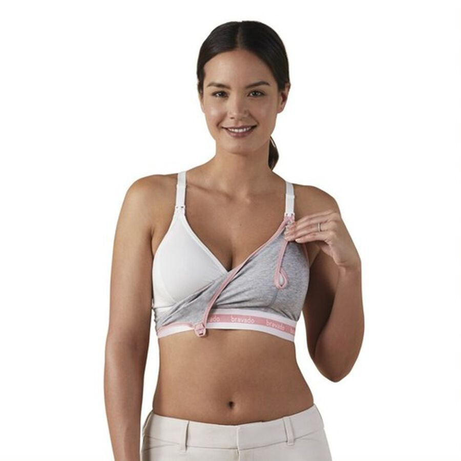 Clip and Pump Hands-Free Nursing Bra Accessory, Dove Heather, , large image number 4