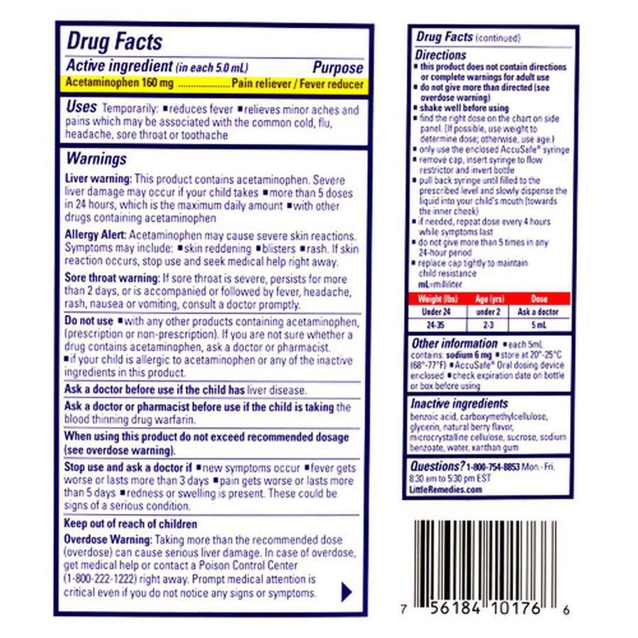 Little Fevers Infant Fever & Pain Reliever, 2 oz, , large image number 1
