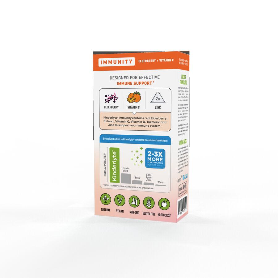 Kinderlyte Herbal Immunity Supplement Powder Orange Citrus, 6 Count, , large image number 3