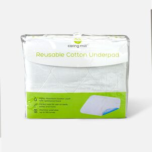 """Caring Mill™ 34"""" x 36"""" Reusable Cotton Underpad"""