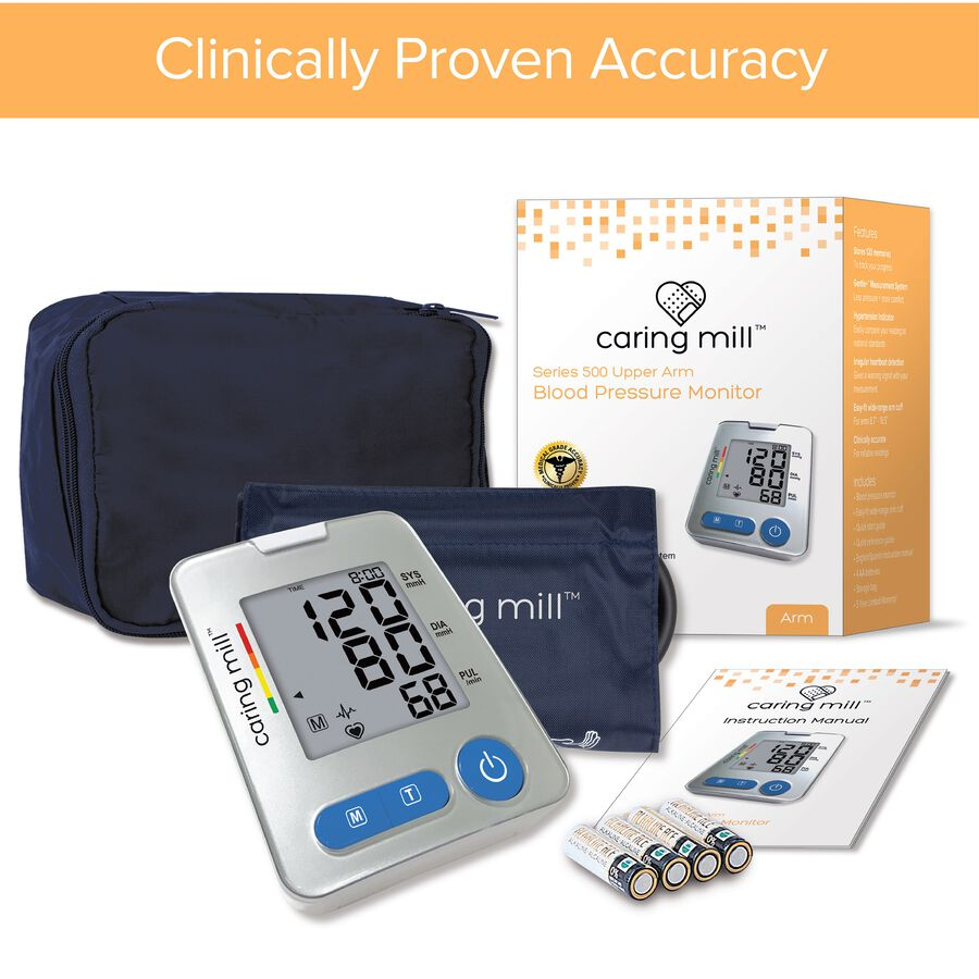 Caring Mill® Series 500 Upper Arm Blood Pressure Monitor, , large image number 1