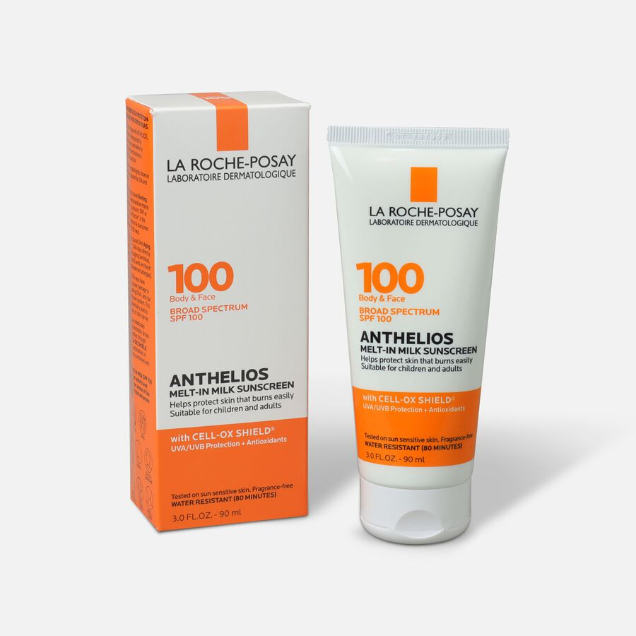 La Roche-Posay Anthelios Melt-In Milk Sunscreen for Face & Body SPF 100, 3 fl oz., , large image number 0
