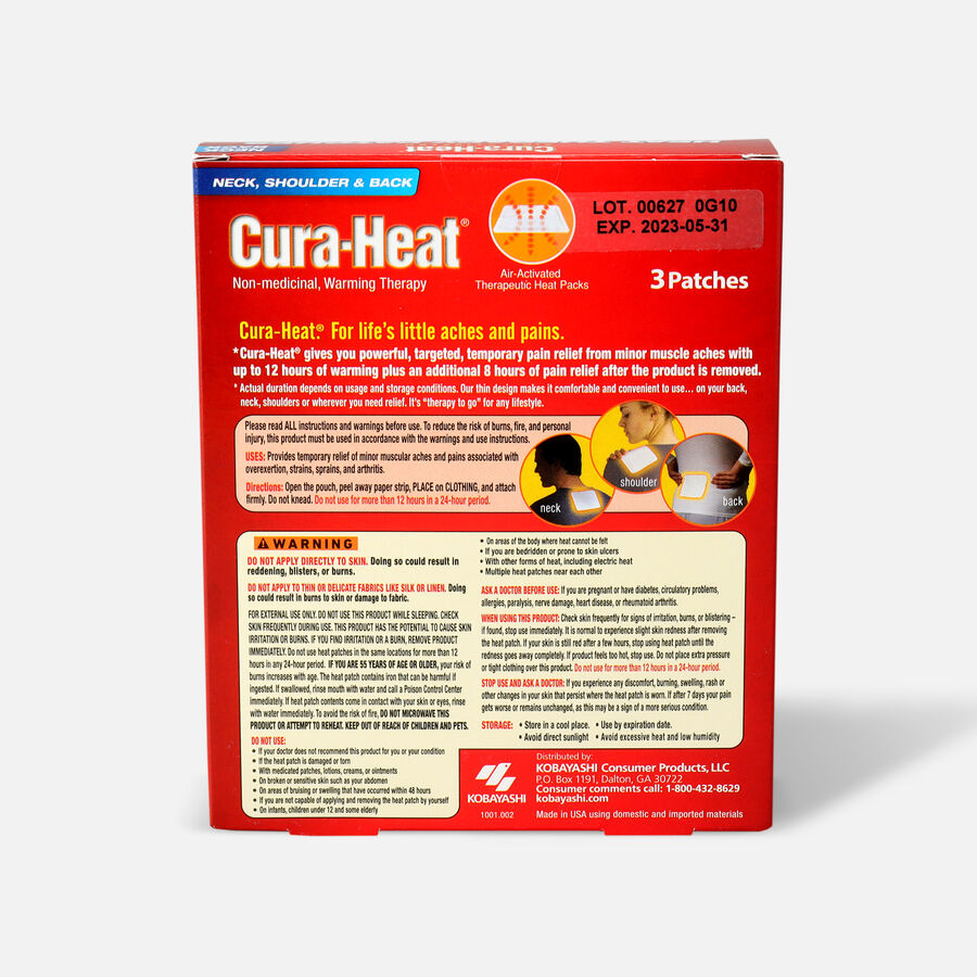 Cura-Heat Therapeutic HeatPacks for Back, Shoulder, and Neck Pain, 3 ea, , large image number 1