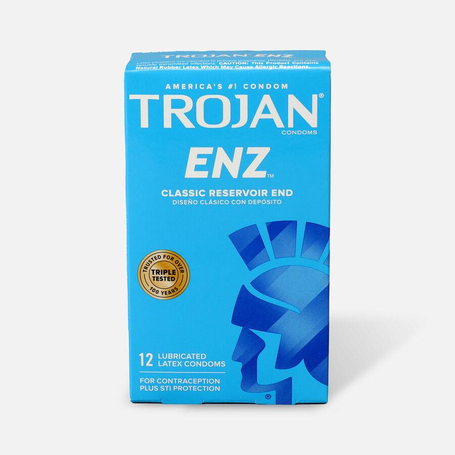 Trojan-Enz Premium Lubricant Latex Condoms, 12 ea, , large image number 0
