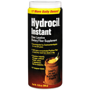 Hydrocil Instant Dietary Fiber Laxative & Supplement, 10.6 oz