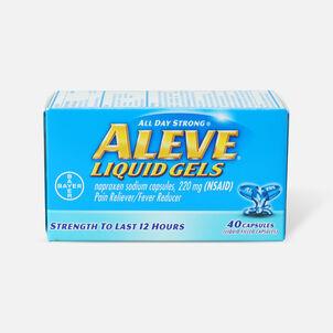 Aleve Liquid Gels Pain Reliever/Fever Reducer, 40 ea