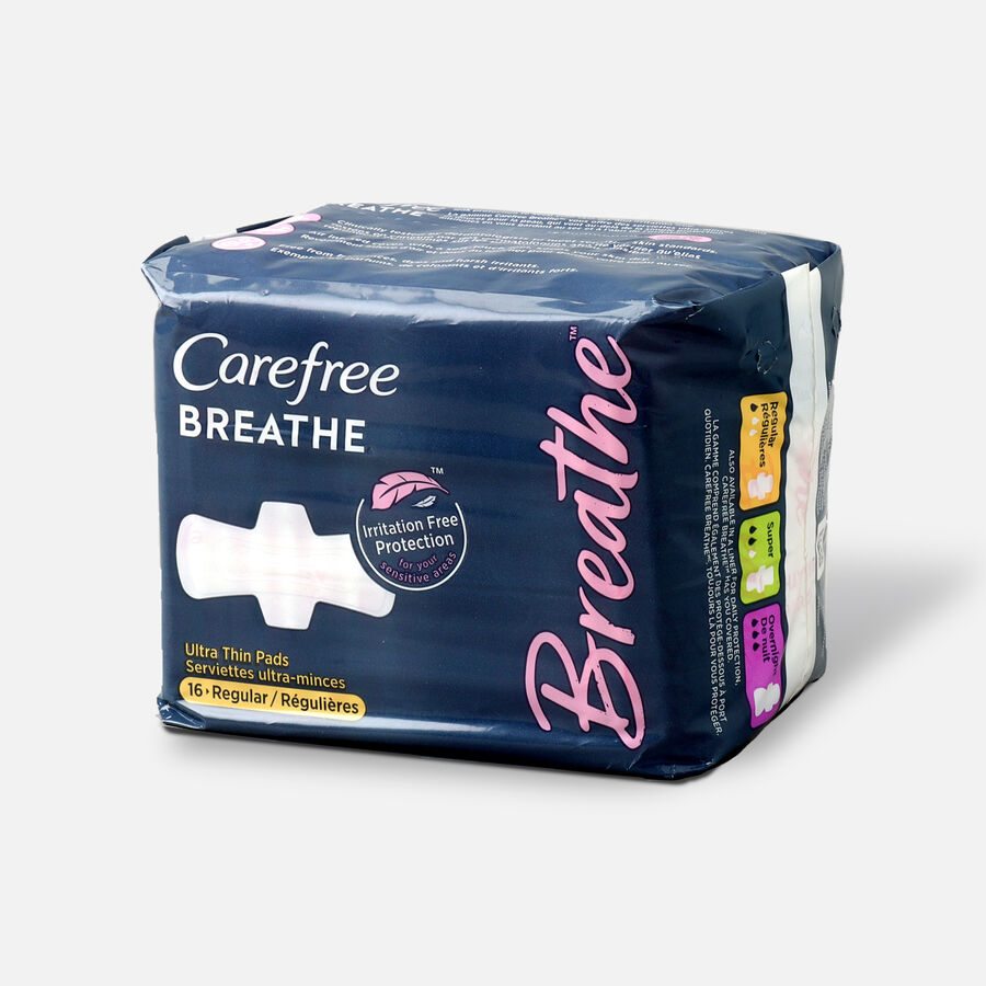 Carefree Breathe Ultra Thin Regular Pads with Wings, , large image number 0