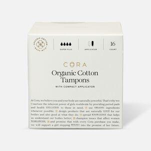 Cora Organic Cotton Applicator Tampons, Super Plus, 16ct