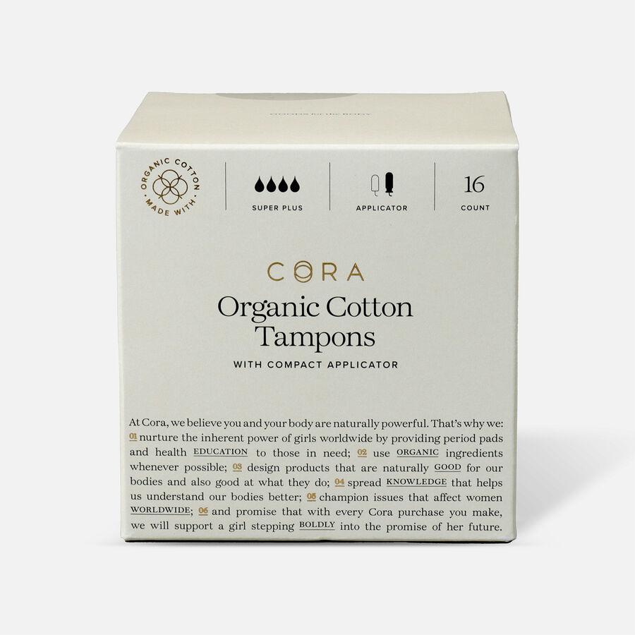 Cora Organic Cotton Applicator Tampons, 16 ct, , large image number 11