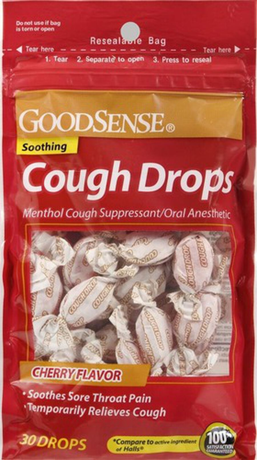 GoodSense® Cough Drops Cherry 30 ct, , large image number 0