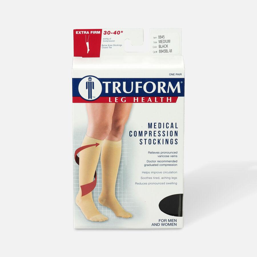 Truform Knee High Stockings, 30-40mmHg, Unisex, , large image number 0