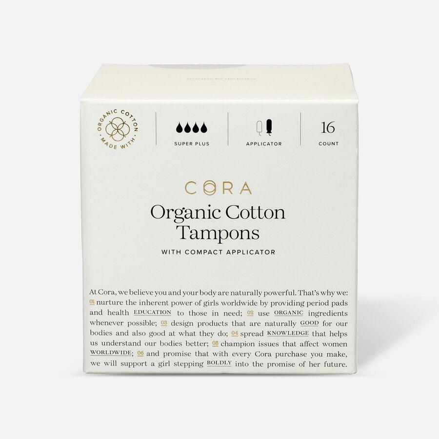 Cora Organic Cotton Applicator Tampons, , large image number 4