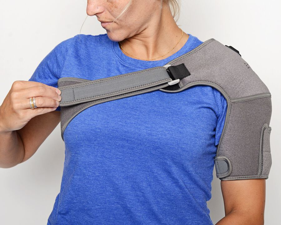 Battle Creek Embrace ™ Relief Shoulder Wrap – Portable, 3 Temperature Settings, Auto Shut Off, Wireless & Rechargeable Wrap, Battery-Operated Heat Therapy Wrap for Rotator Cuff and Shoulder Pain Relief, , large image number 16