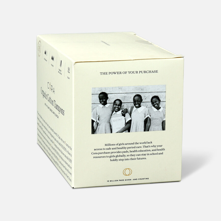 Cora Organic Cotton Applicator Tampons, 16 ct, , large image number 17