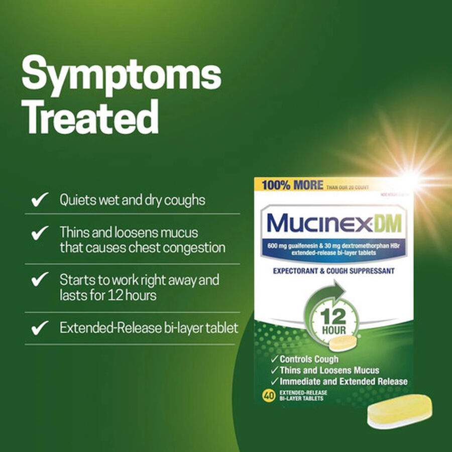 Mucinex Extended Release Bi-Layer Tablets, 20 ct, , large image number 2