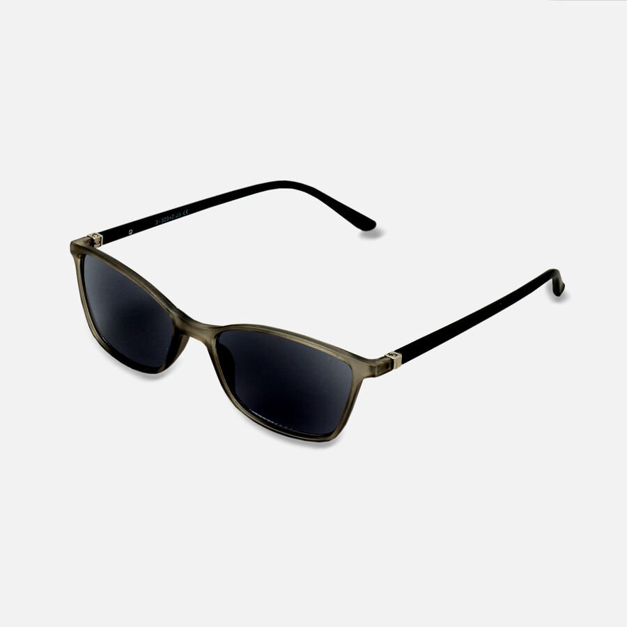 Sunglass Reader with Smoke Tint, Matte Crystal Gray, , large image number 7
