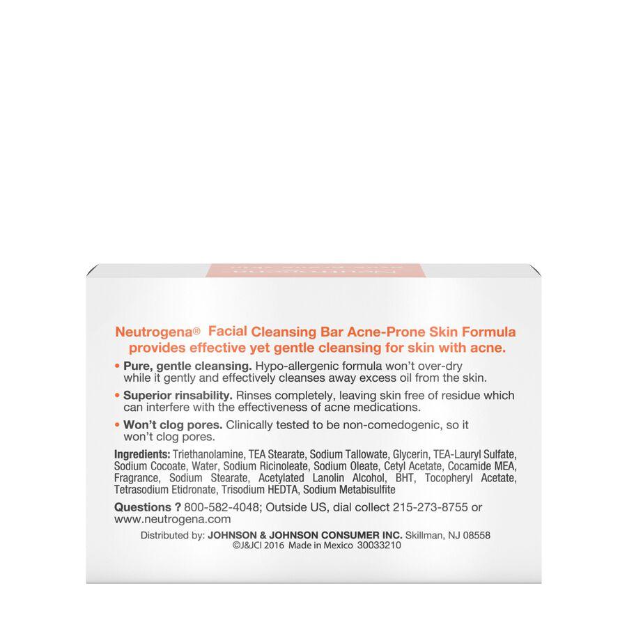 Neutrogena Acne Prone Skin Facial Bar, 3.5 oz, , large image number 3