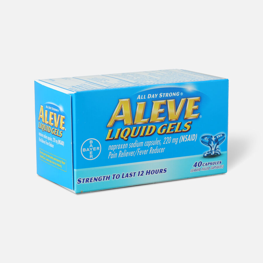 Aleve Liquid Gels Pain Reliever/Fever Reducer, 40 ea, , large image number 2