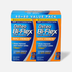 Osteo Bi-Flex Glucosamine Chondroitin with Joint Shield Value Pack Coated Tablets, 160 count