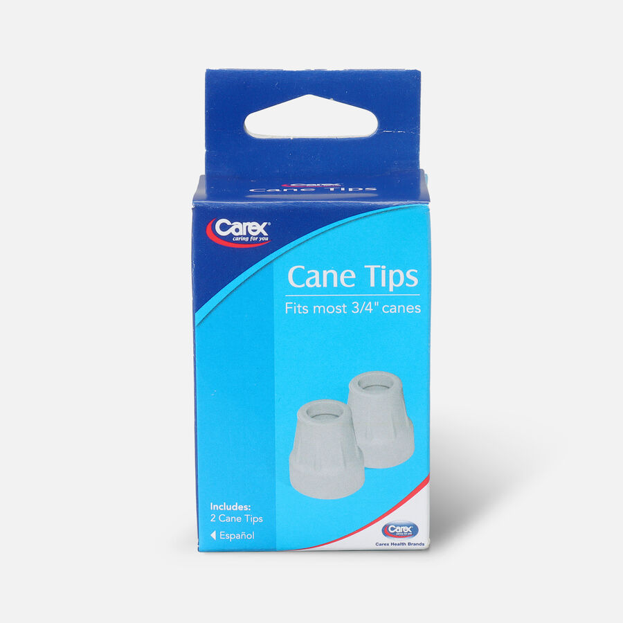 Carex Cane Tip 3/4 Gray Pack of 2, , large image number 0