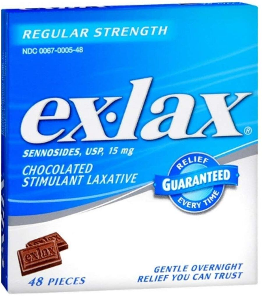 Ex-Lax Regular Strength Sennosides, 15 mg, Stimulant Laxative Chocolated Pieces For Gentle Overnight Relief, , large image number 0