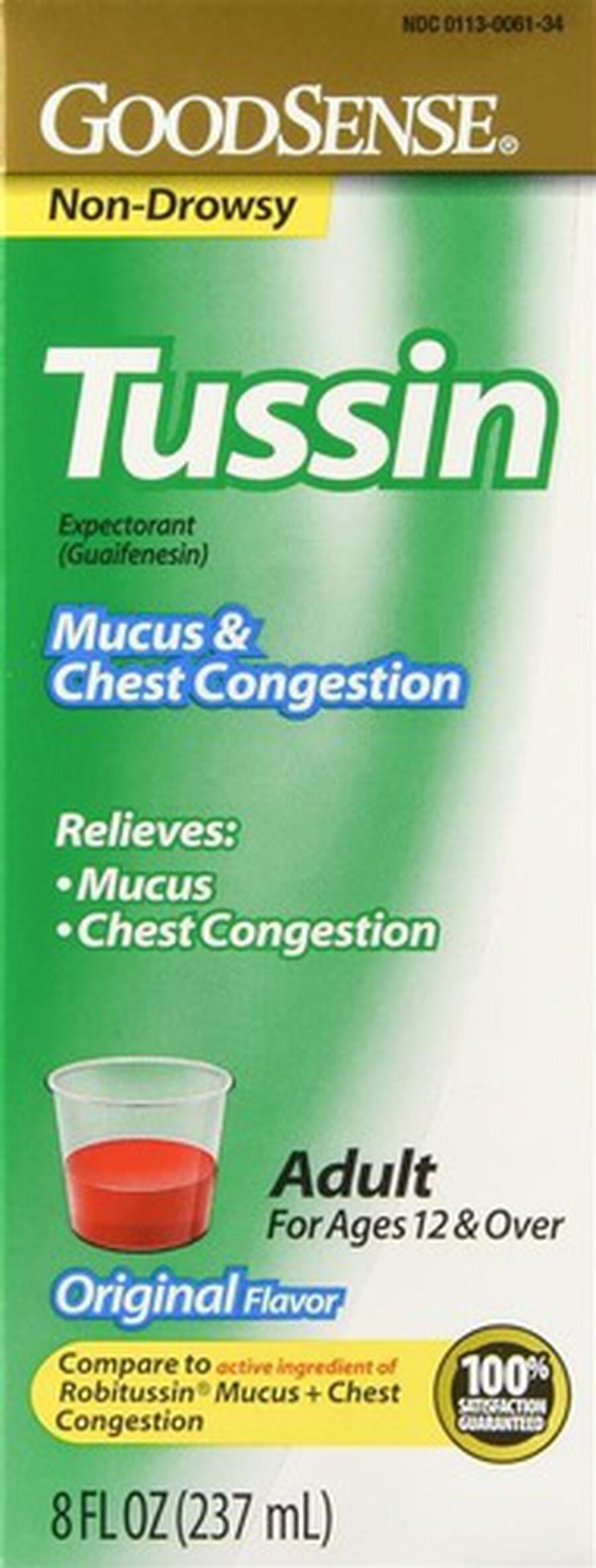 GoodSense® Tussin Mucus + Chest Congestion 200 MG 8 oz, , large image number 0