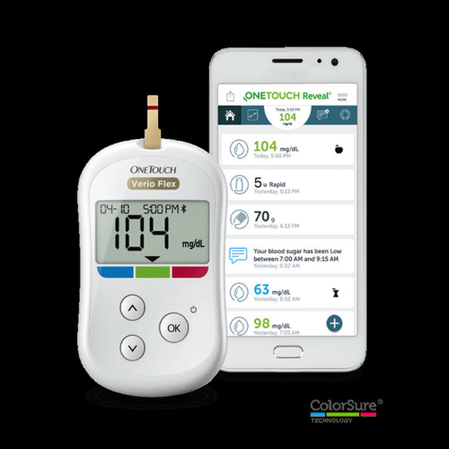 OneTouch Verio Flex Blood Glucose Monitoring System, , large image number 2