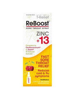 ReBoost Zinc +13 Sore Throat Spray, Cherry