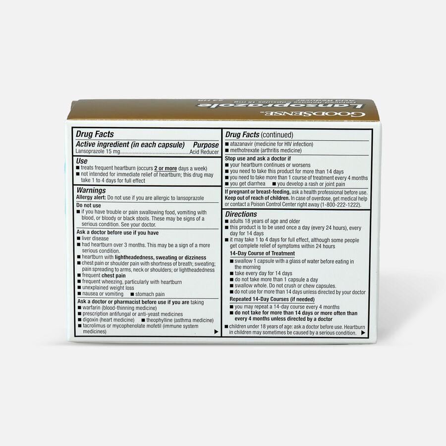 GoodSense® Acid Reducer, Lansoprazole Delayed Release Capsules,15 mg, , large image number 1
