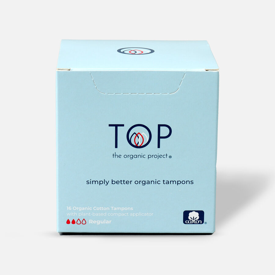 TOP Organic Cotton Plant Based Compact Applicator Tampon, , large image number 0