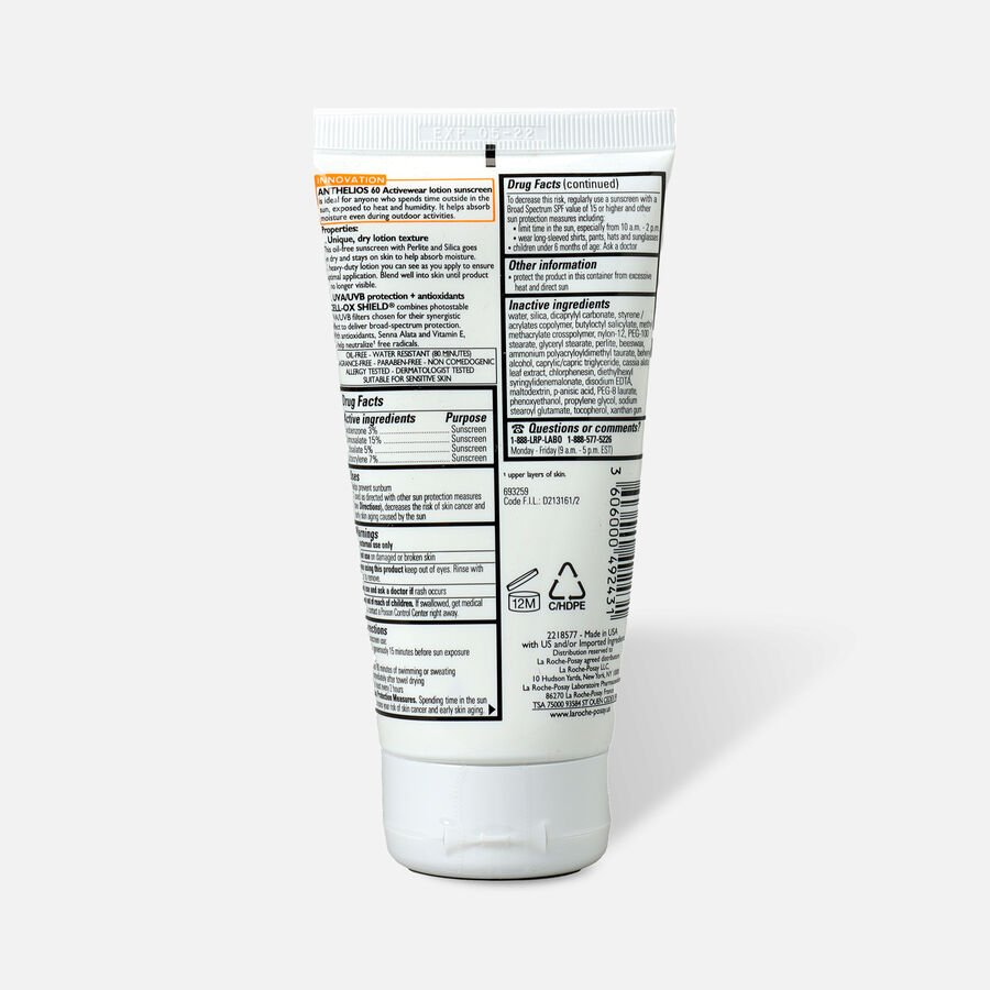 La Roche-Posay Anthelios SPF 60 Activewear Sport Sunscreen Lotion 5 fl oz, , large image number 1
