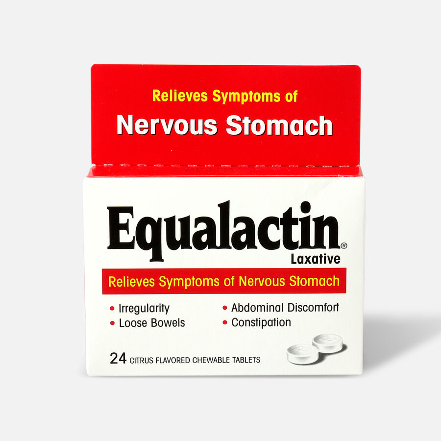Equalactin Laxative for Nervous Stomach, Citrus Flavored Chewable Tablets, , large image number 0