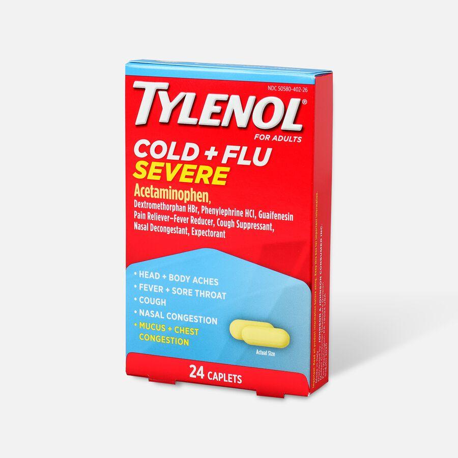 Tylenol Cold + Flu Severe Caplet, 24ct, , large image number 2