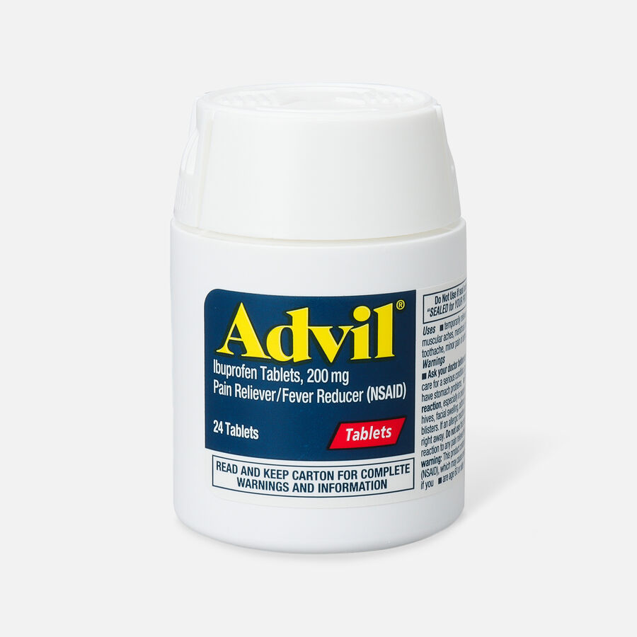 Advil Pain Reliever and Fever Reducer Coated Tablets, 200mg, 24 ct, , large image number 0