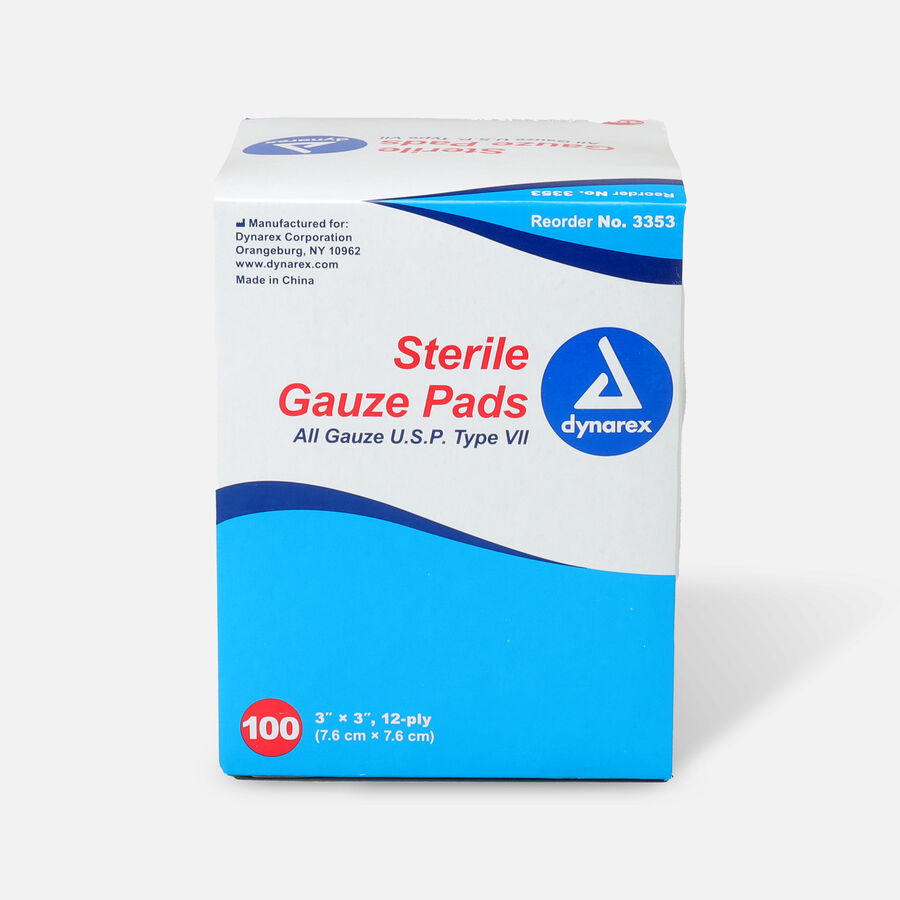 Dynarex Sterile Gauze Pads,12 ply - 100ct, , large image number 0