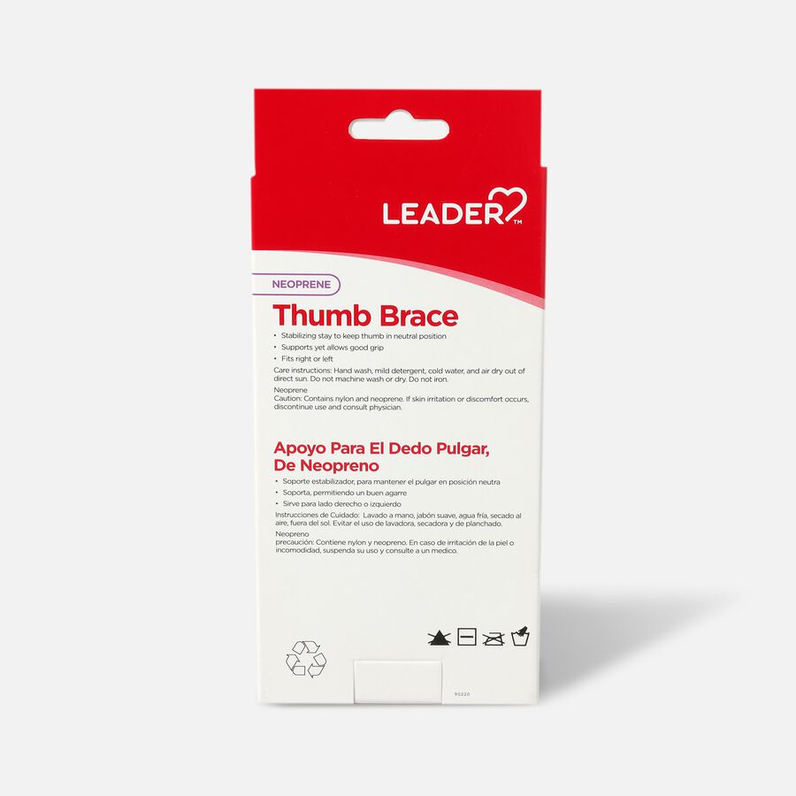 Leader Thumb Spica Support, Black, Small/Medium, , large image number 1