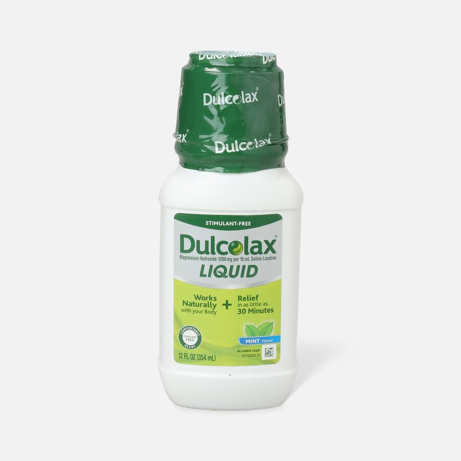 Dulcolax Liquid Laxative, Mint Flavored, 12 oz, , large image number 0