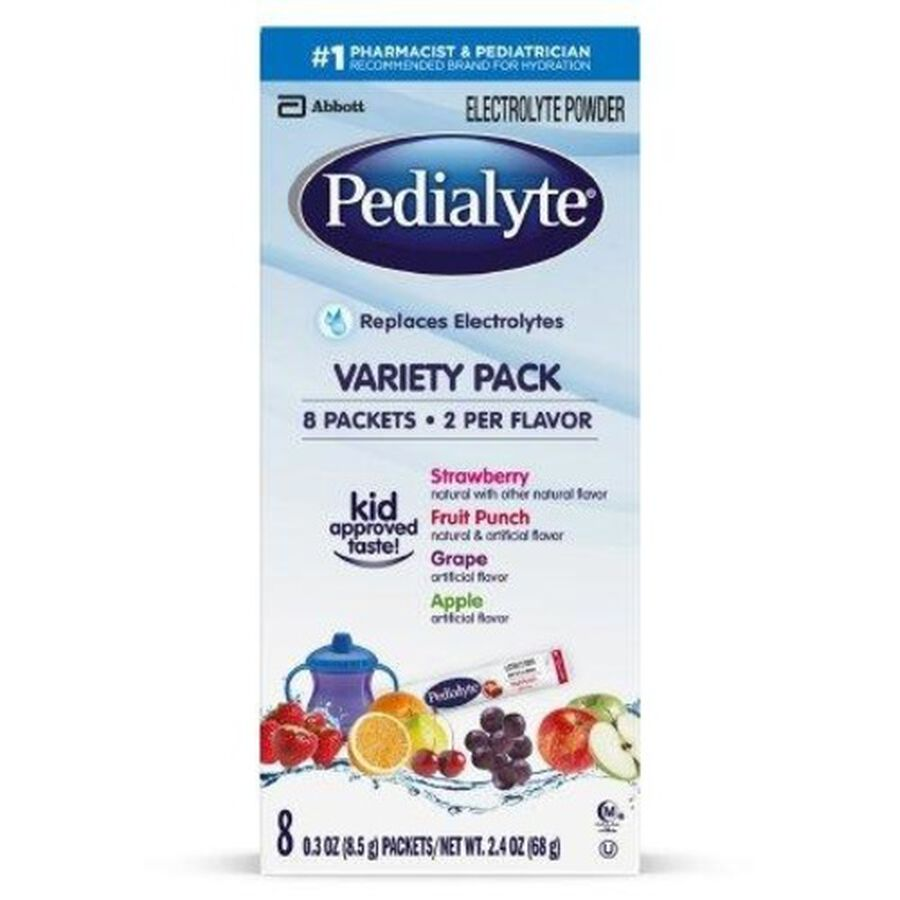 Pedialyte® Electrolyte Powder Pack, Punch, Grape, Apple and Strawberry Flavor Variety, 0.3 oz, 8ct, , large image number 2