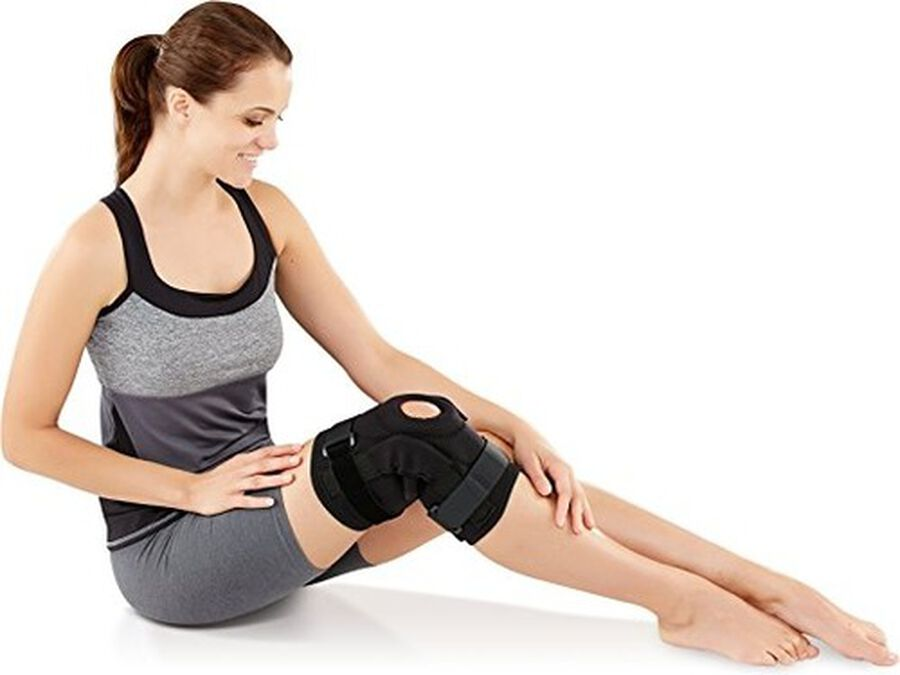 Bell-Horn ProStyle Hinged Patella Knee Wrap, Black, L/XL, , large image number 2