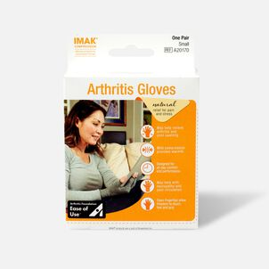 IMAK Compression Arthritis Gloves, Small, 1 Pair