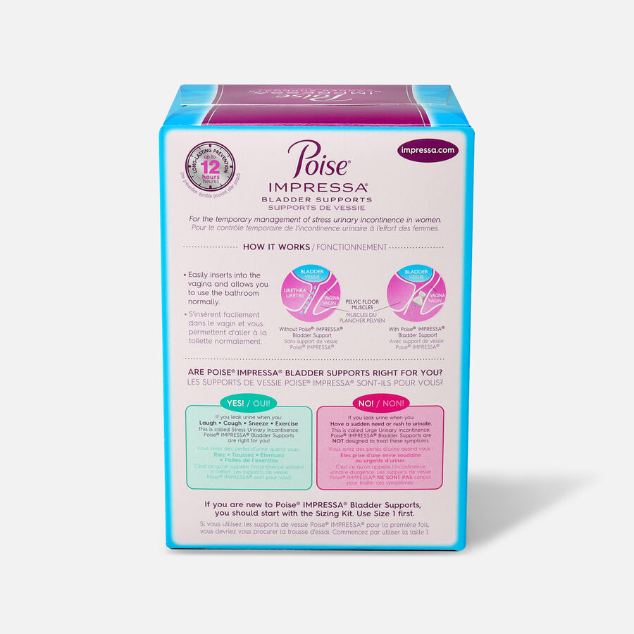 Poise Impressa Bladder Supports for Women, 21 Count, , large image number 1