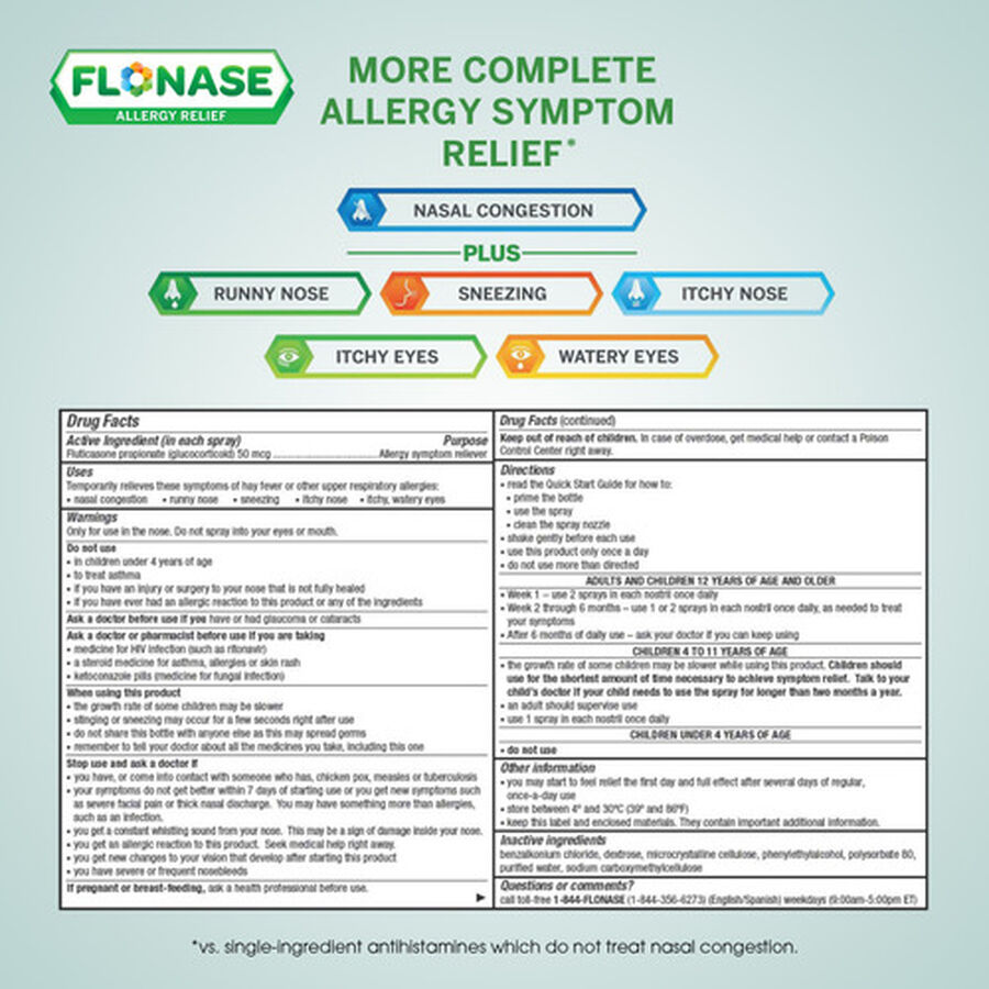 Flonase Allergy Relief Nasal Spray, 72 ct, , large image number 9