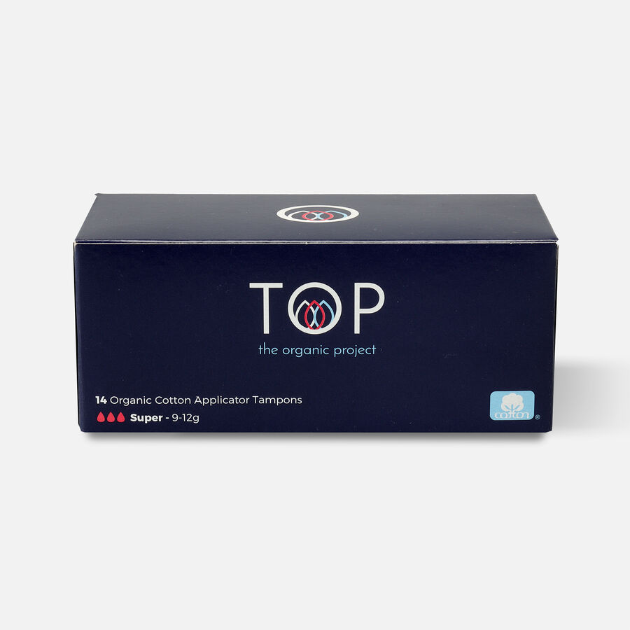 TOP Organic Cotton Cardboard Applicator Tampon, , large image number 1