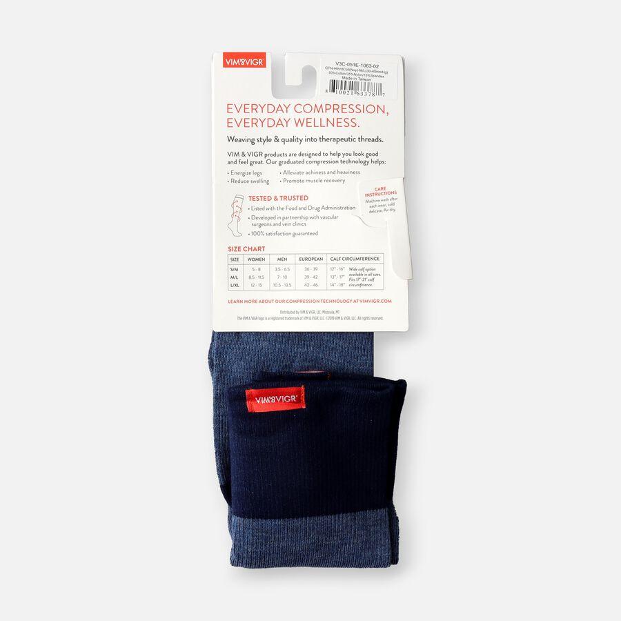 VIM & VIGR Cotton Socks, Heathered Collection Navy, 30-40 mmHg, , large image number 5