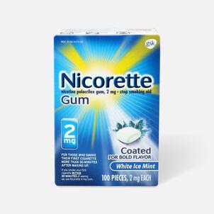 Nicorette Gum White Ice Mint, 2mg, 100 ct