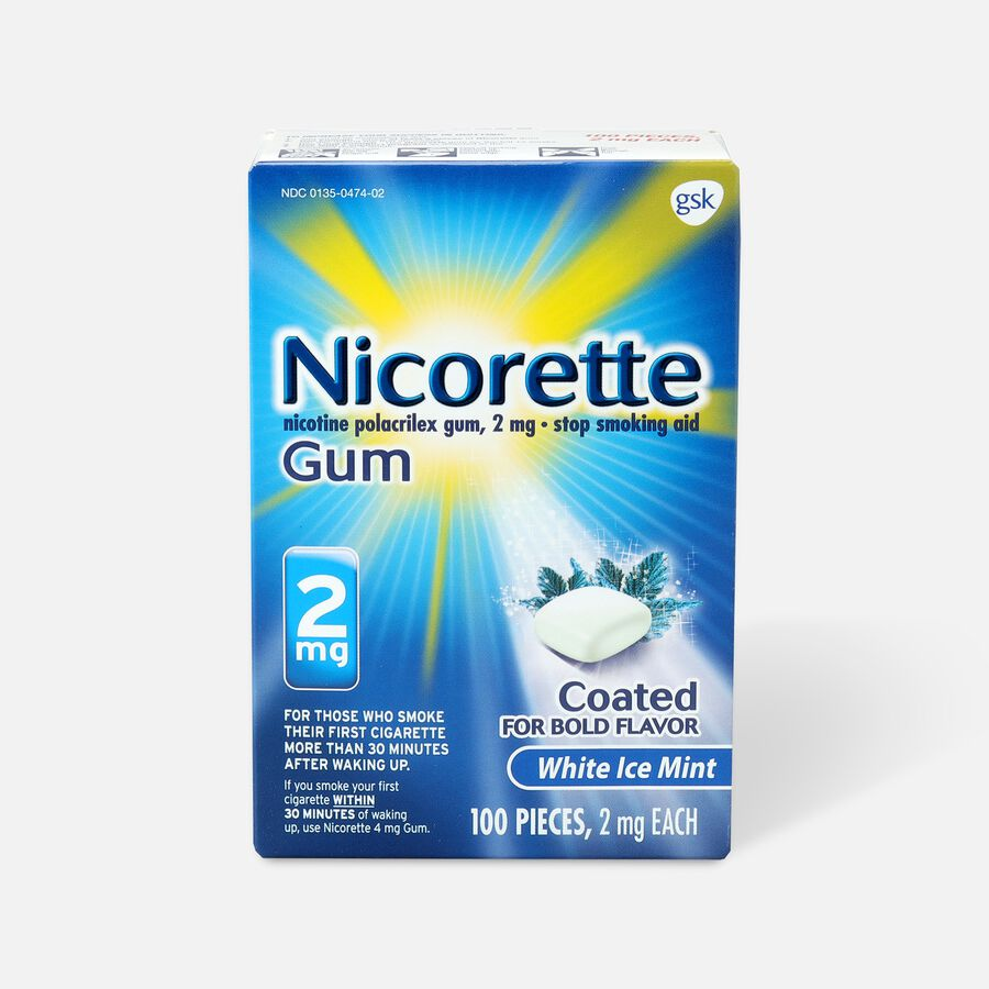 Nicorette Gum White Ice Mint, 2mg, 100 ct, , large image number 0
