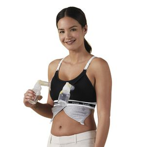 Clip and Pump Hands-Free Nursing Bra Accessory, Black