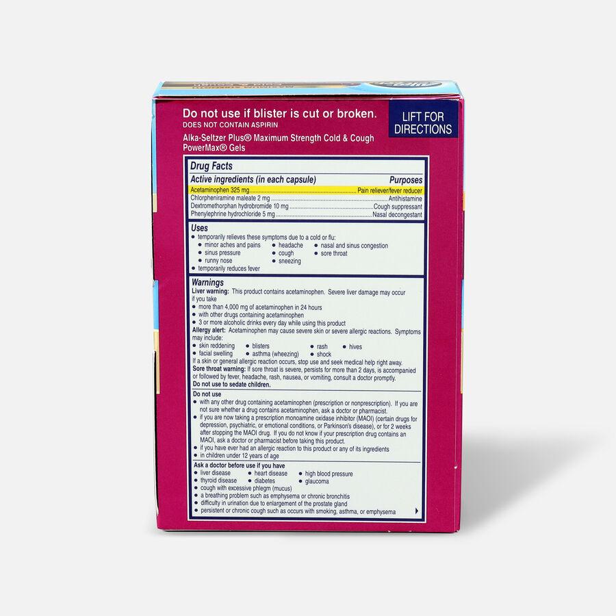 Alka-Seltzer Plus PowerMax Gels, Cold & Cough, 24ct, , large image number 1