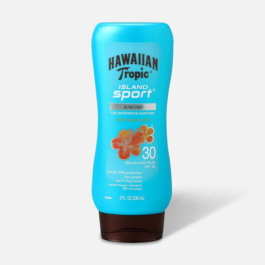 Hawaiian Tropic Island Sport Sunscreen Lotion, 8oz., , large image number 0